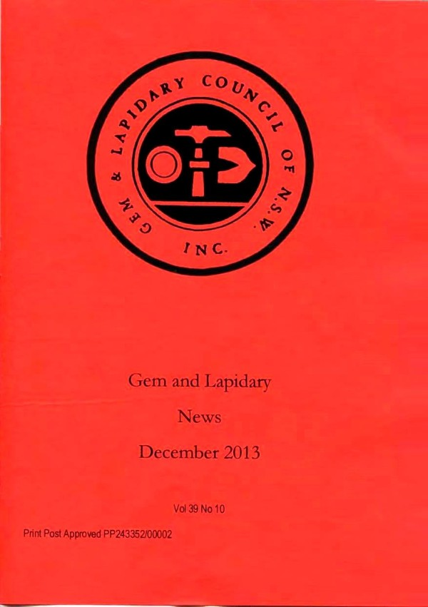 Cover Gem Lapidary News 2013 12