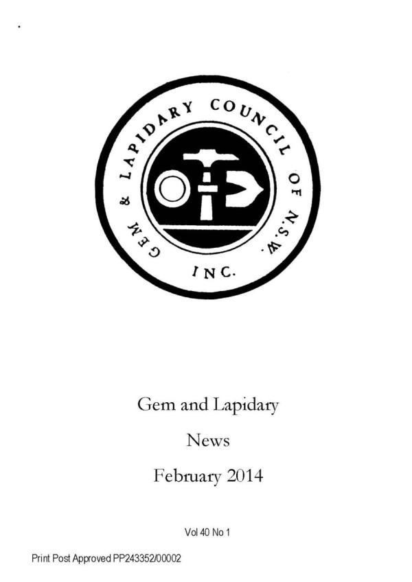 Cover Gem Lapidary News 2014 02