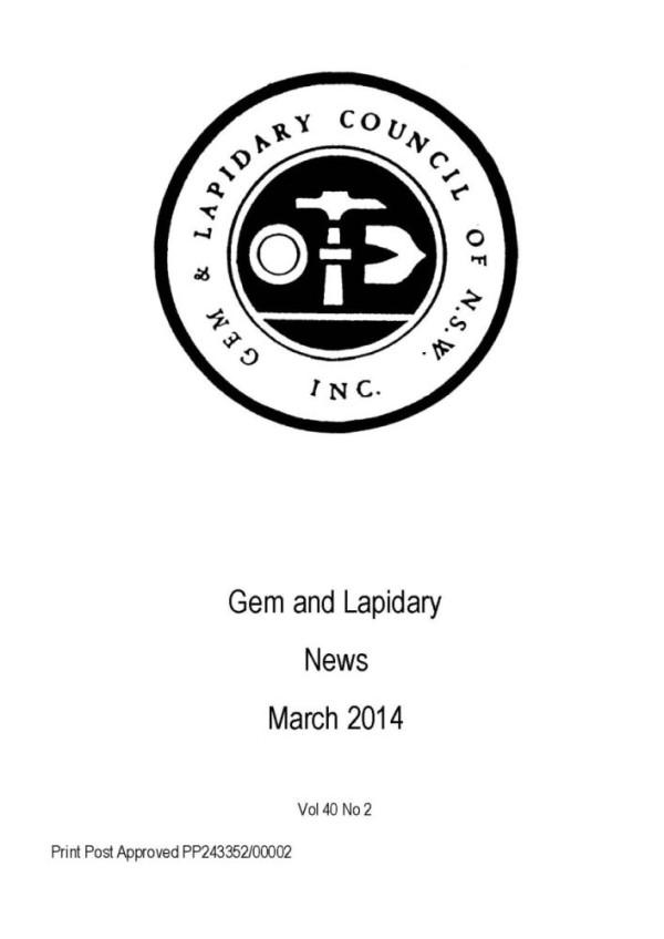 Cover Gem Lapidary News 2014 03