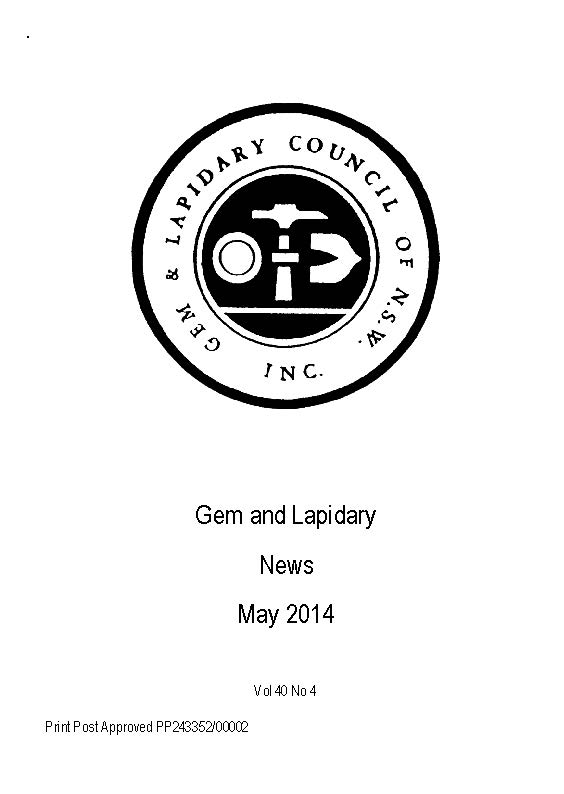 Cover Gem Lapidary News 2014 05