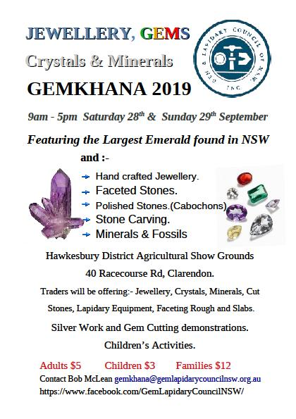 Events – Gem & Lapidary Council NSW